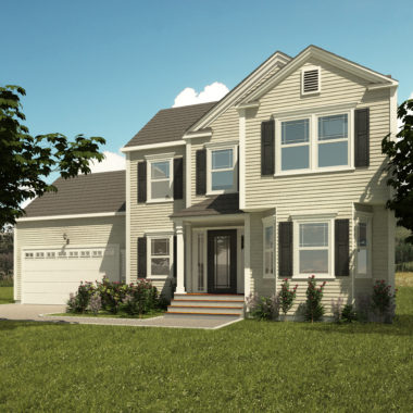 The Pond View Exterior Rendering