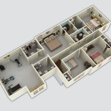 The Country Side 3D Floor Plan